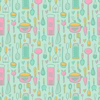 Gratis Vintage Kitchen Pattern Vector