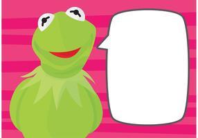 Kermit Der Frosch Hintergrund vektor
