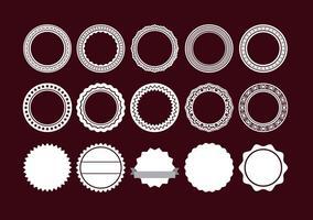 Runde Rahmen vektor