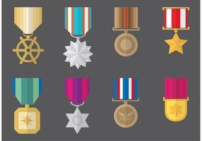 Militärische medaillenvektoren vektor