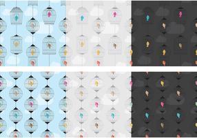 Vögel und Käfige Muster vektor