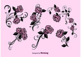 Vektor blomma uppsättning