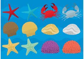 Meereslebensvektoren vektor
