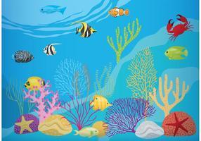 Korallenriff mit Fischen vektor