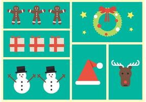 Jul ikoner vektor