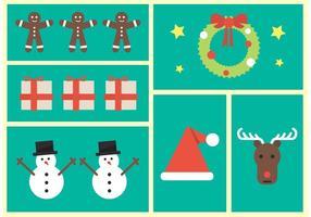Weihnachts-Ikonen vektor