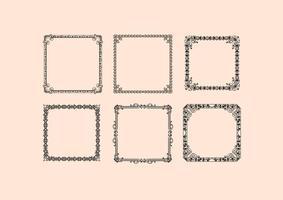 Vintage Frames Vektoren