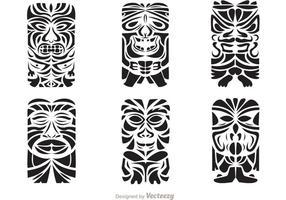 Tiki Totem Hawaiianische Stammes-Vektoren vektor