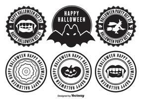 Halloween märken vektor