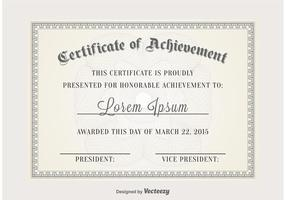 Certifikat vektor mall