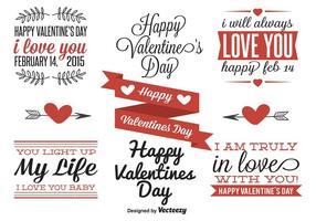 Valentinstag Etiketten vektor