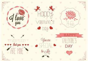 Freie Valentinstag-Label-Vektoren vektor