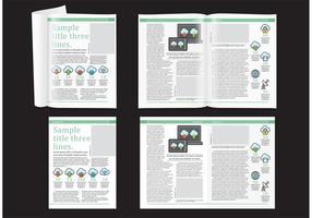 Technologie Magazin Layout vektor