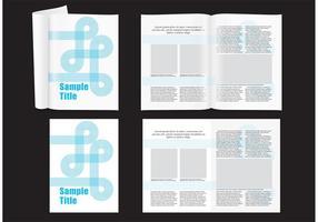 Modernes Magazin-Layout vektor