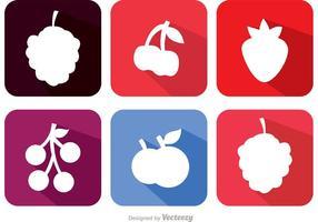 Lange Schatten-Beeren-Frucht-Vektoren