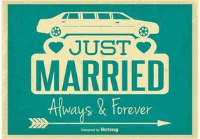 Retro stil Just Married Illustration vektor
