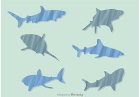 Gemusterte Haifischvektoren vektor
