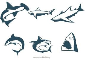 Samling av hajvektorer vektor