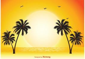 Tropische Szene Illustration