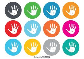Barnhandavtrycksikoner vektor