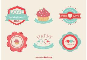 Kärlek och Valentine Vector Etiketter