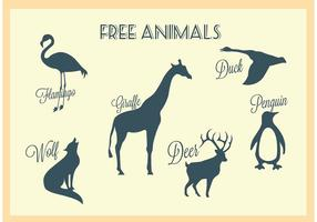 Gratis Vector Animal Silhouettes