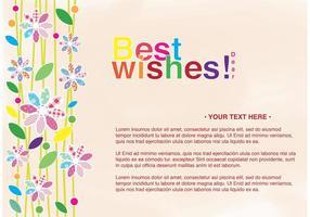 Beste Wünsche Grußkarte mit Blumen