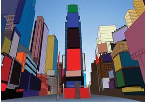 Times Square Vektor