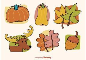 Herbst Illustrierte Grafiken