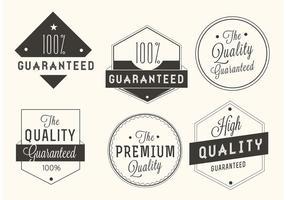 Kostenlose Vektor Premium-Qualität gesetzt