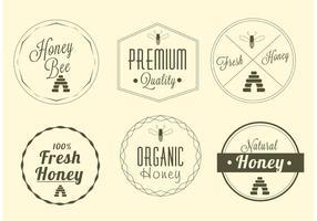 Free Honey Label Vektor Set