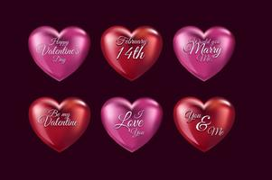 3D Liebe Herzen vektor