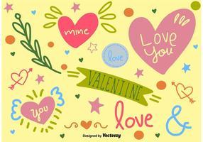 Nette Handgezeichnete Liebe Grafiken vektor