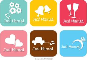 Helle gerade verheiratete Vektoren