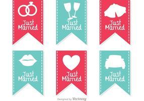 Gerade verheiratete Zeichen Banner Vektoren