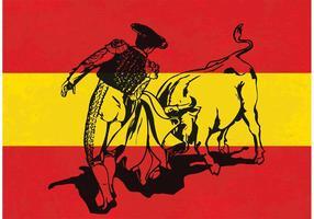 Free Vector Charging Bull in einem Stierkampf