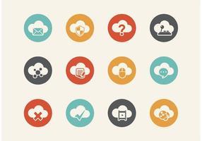 Kostenlose Retro Cloud Computing Vector Icons