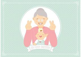 Gratis rolig mormor vektor
