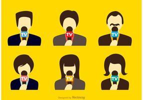Nachrichten Reporter Vektoren