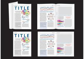 Vetenskapstidningen layout vektor
