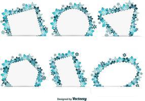Schneeflocke Winter Text Frames vektor