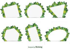 Vårbladverk ramar vektor