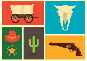 Wild West Vector Ikoner