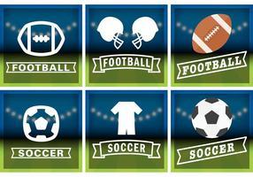Fotbolls- och fotbollsignalvektorer