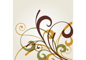 Floral Swirl Vektor Hintergrund
