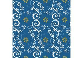 Blå Seamless Floral Background vektor