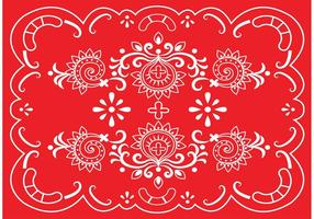 Röd vektor Paisley gräns