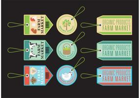 Bönder marknad etikett vektorer
