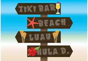 Hawaii Beach Sign Vectors