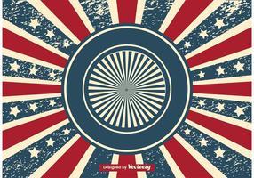Patriotisk Sunburst Grunge Bakgrund vektor